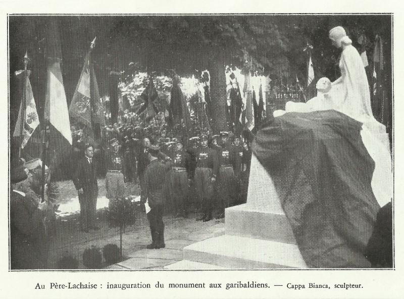 Einweihung Garibaldi Denkmal in Paris