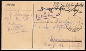 Feldpost Gustav Schmidt