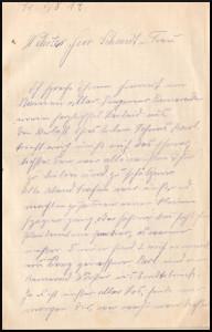 Brief Karl Schmidt