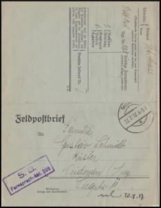 Feldpostkarte Karl Schmidt