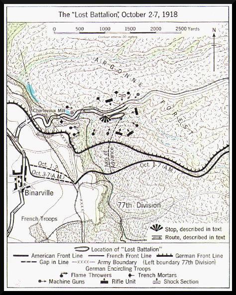 Karte Argonnen